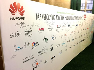 Signature wall for all suppliers to Huawei